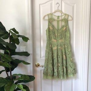 Anthropologie Pankaj & Nidhi Embroidered Dress